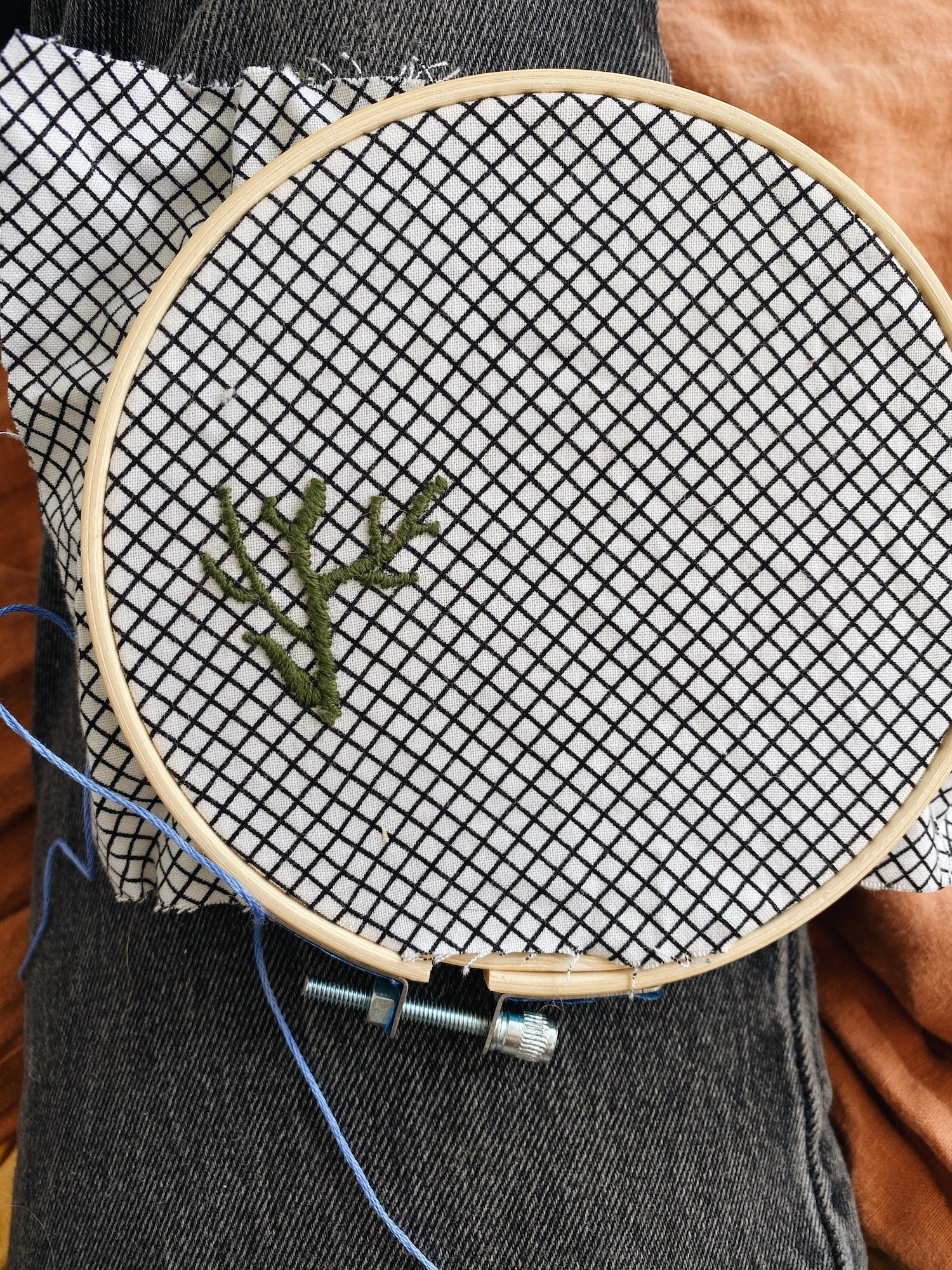 fabric in a hoop