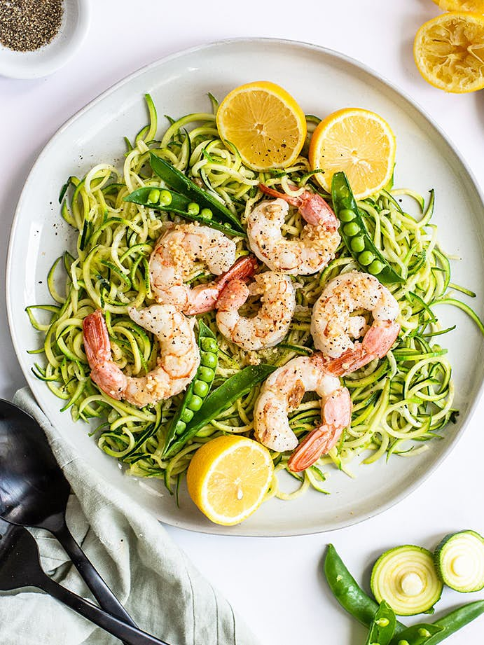 Shrimp zoodles