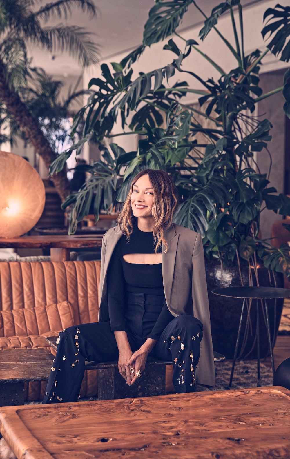 kelly wearstler sitting in chair