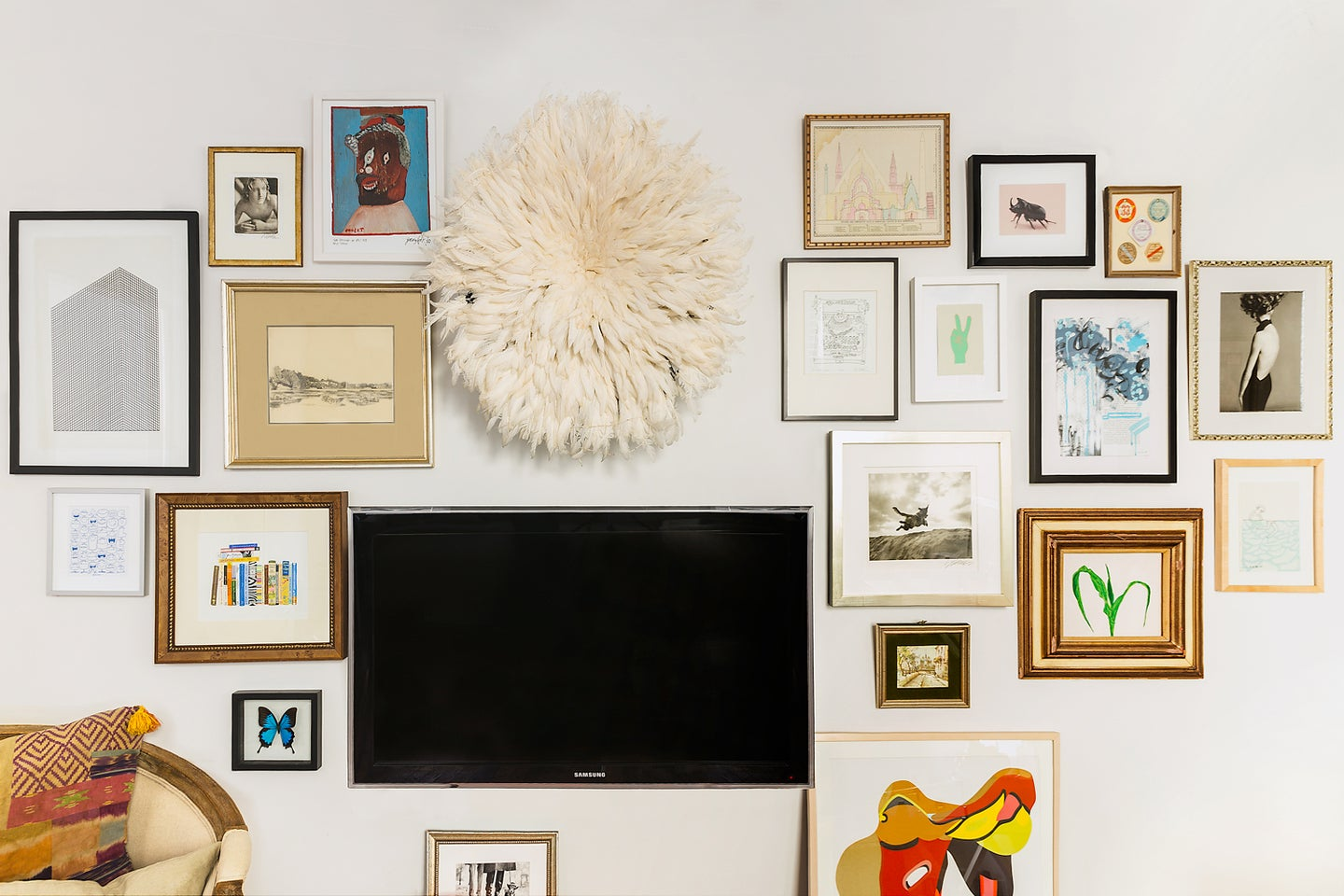 TV on a gallery wall