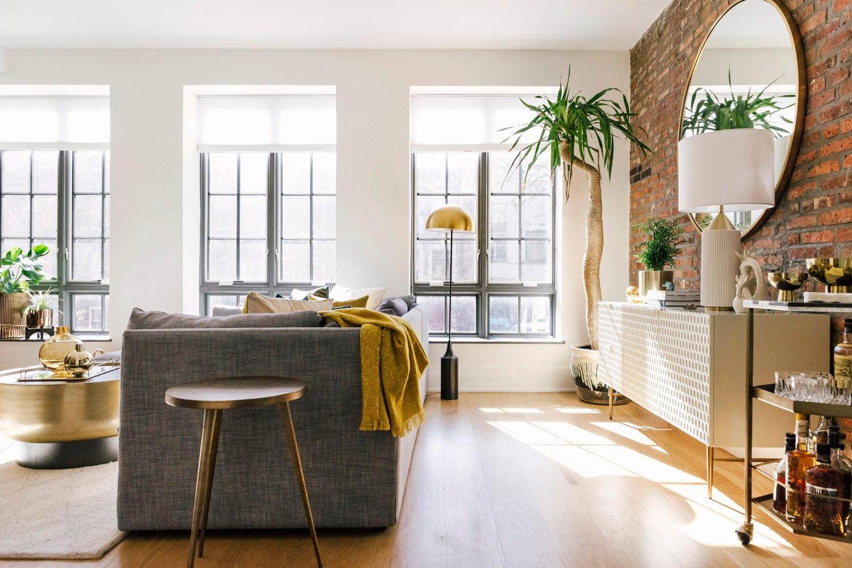 sunny apartmetn with white credenza