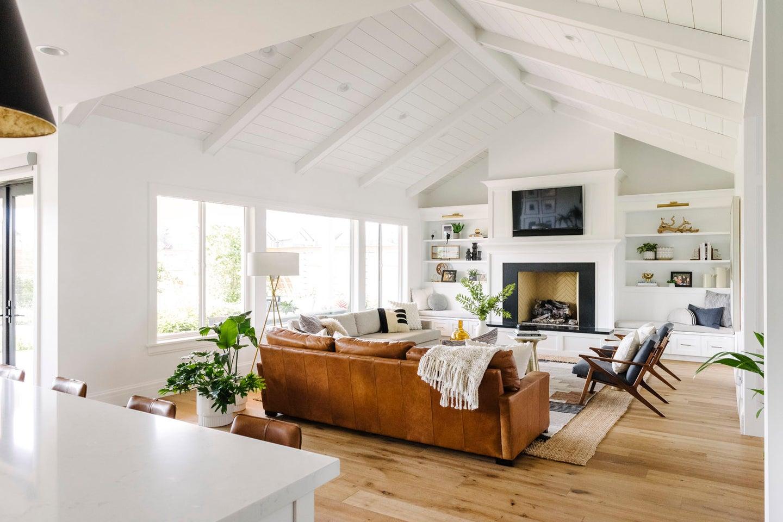 white beam ceilings
