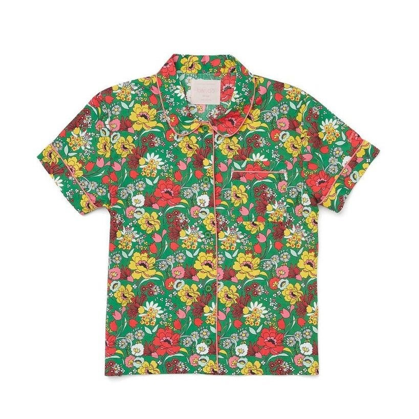 Floral pajama shirt