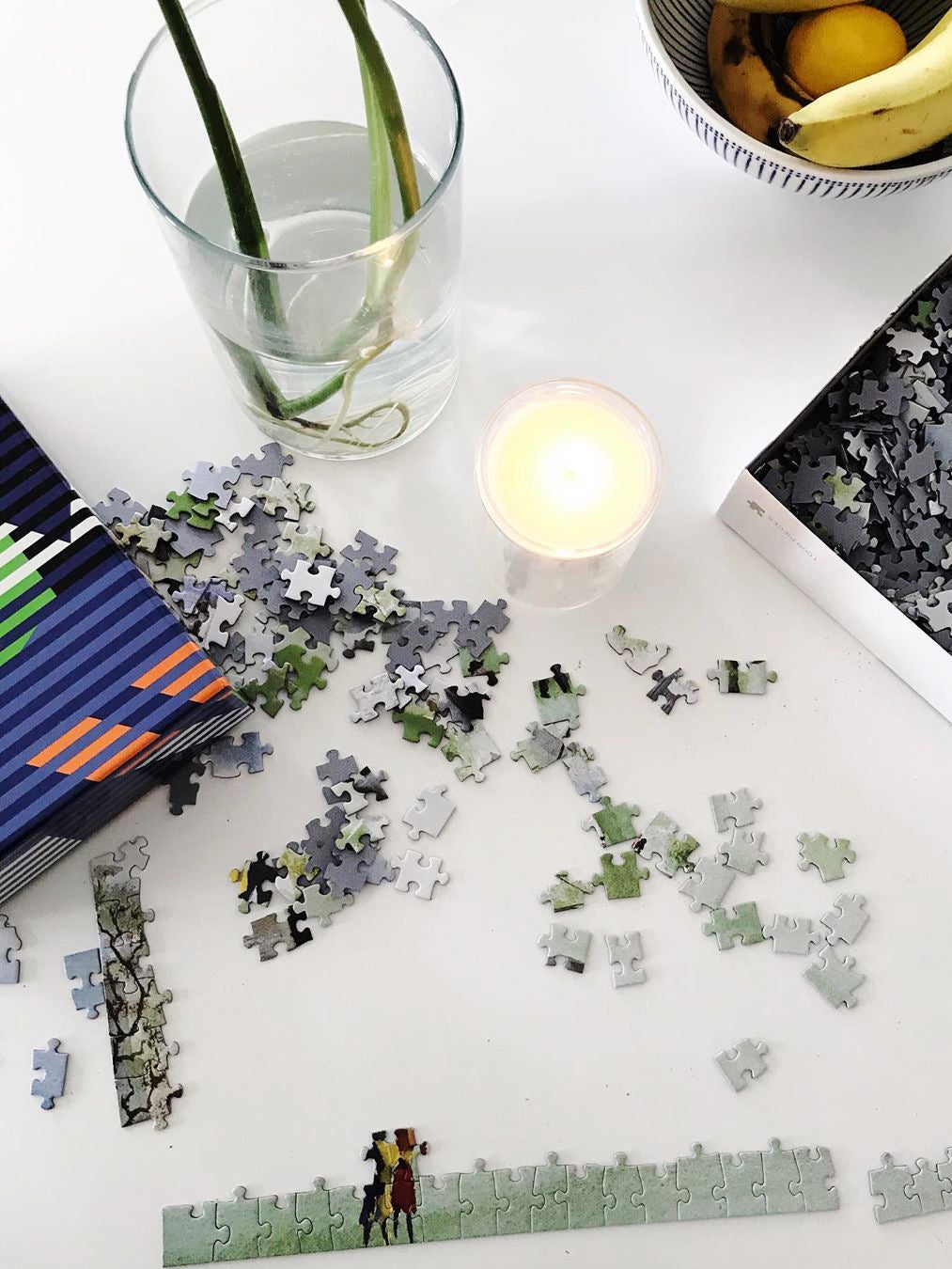 Puzzle on table
