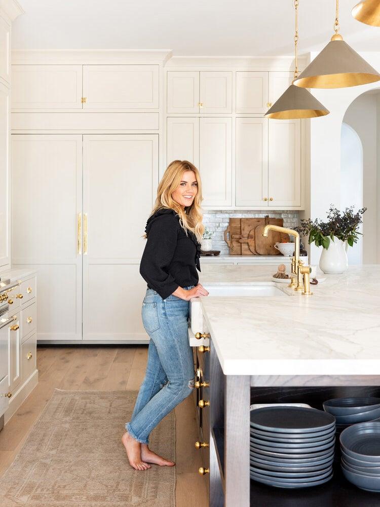 shea mcgee in white kitchen