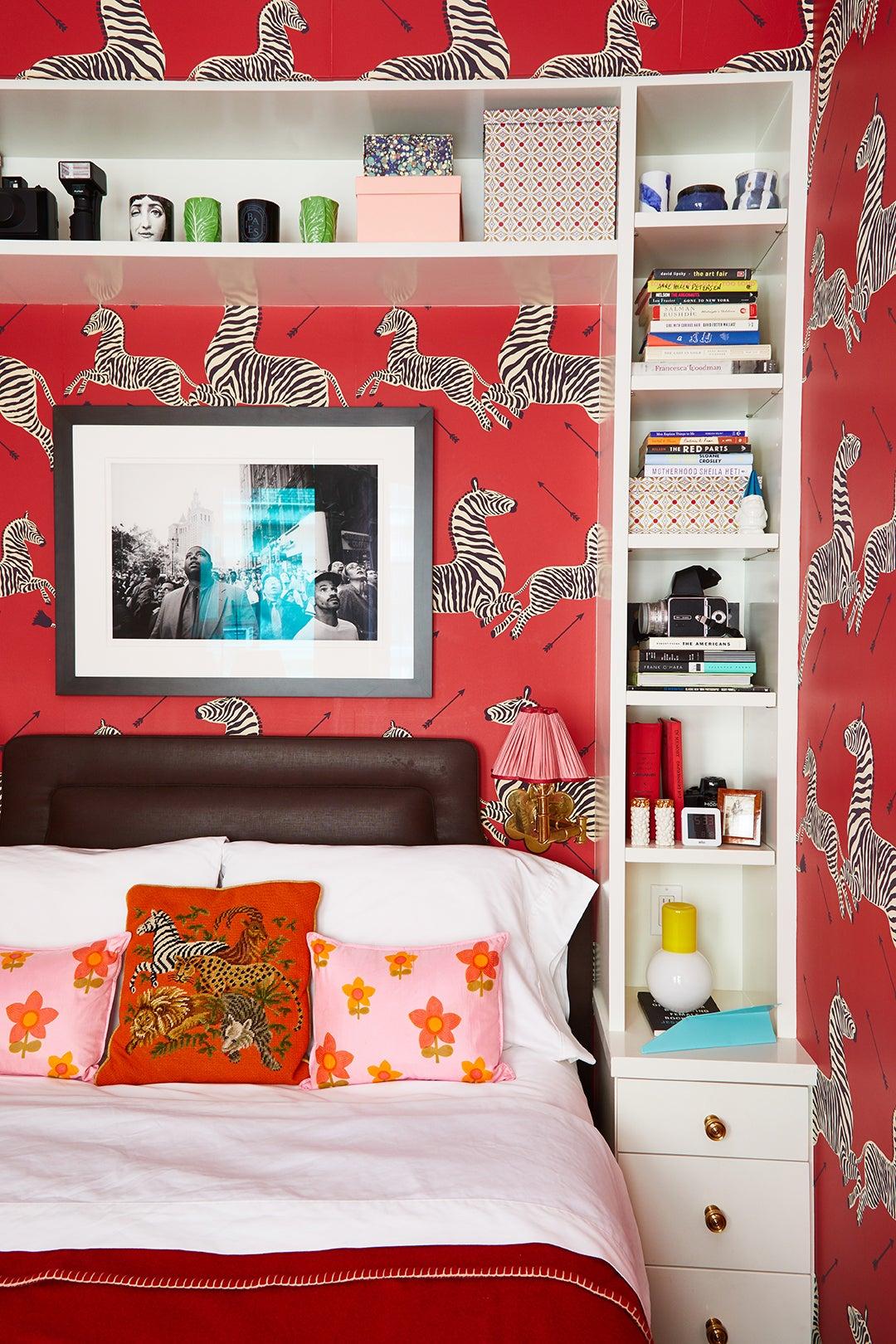 red scalamandre zebras bedroom
