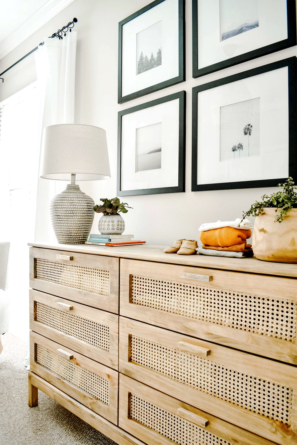 dresser drawers with cane