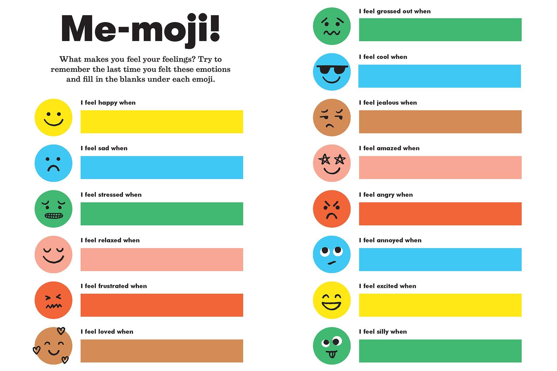Me-moji mood chart
