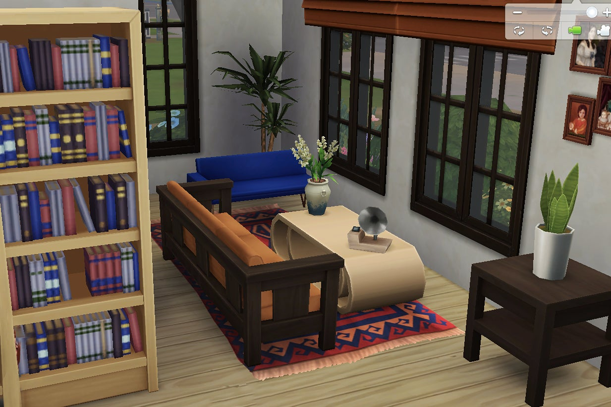 Living room in The Sims