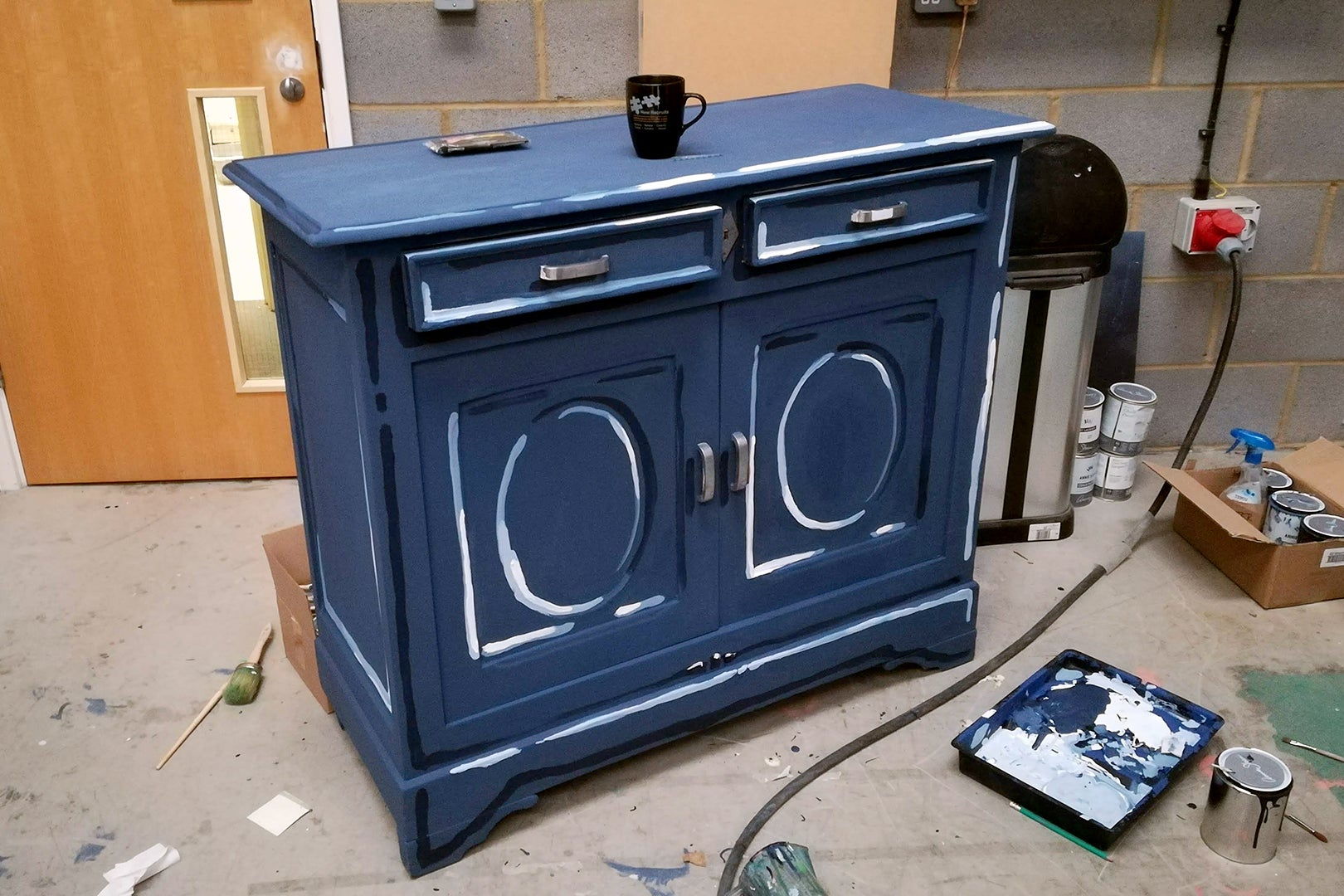 blue dresser diy