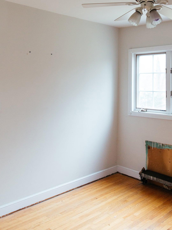 plain white room