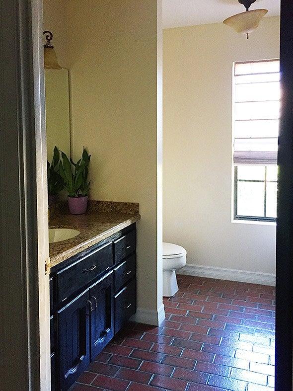 Before - bare bathroom