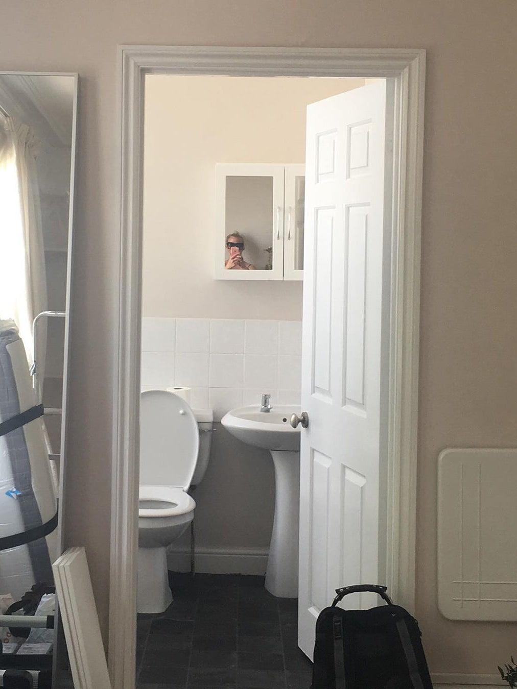 Before - white bathroom