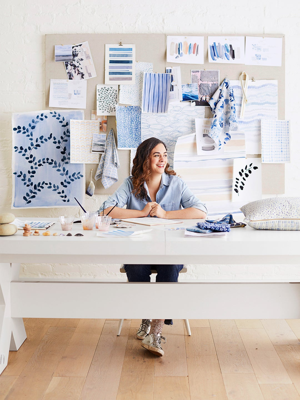 Rebecca Atwood in studio