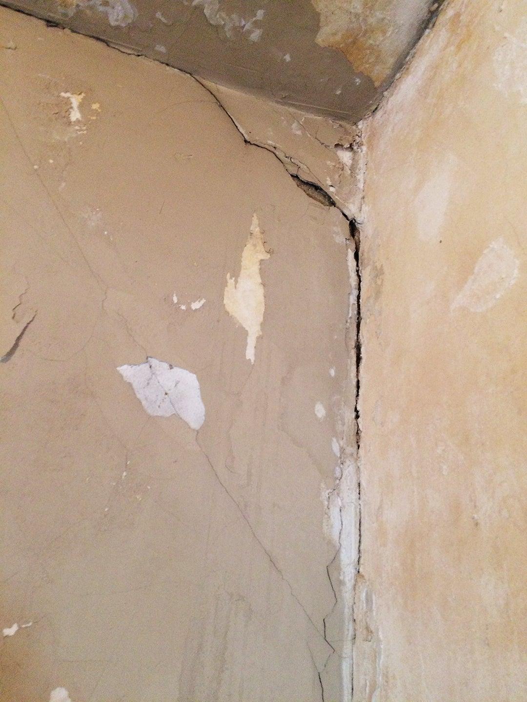 crack in tan wall
