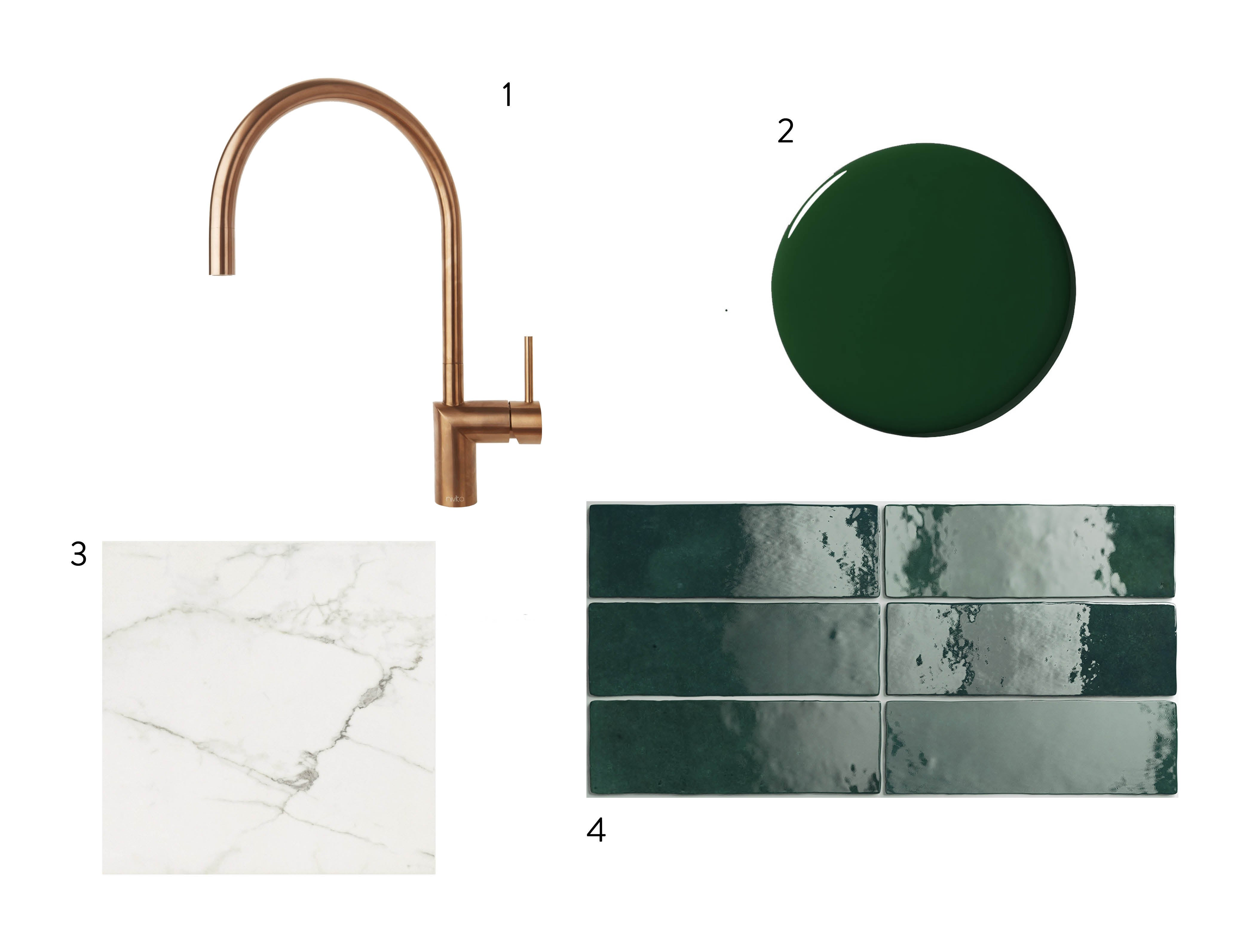 sourcebook of green paint and tile and marble floor