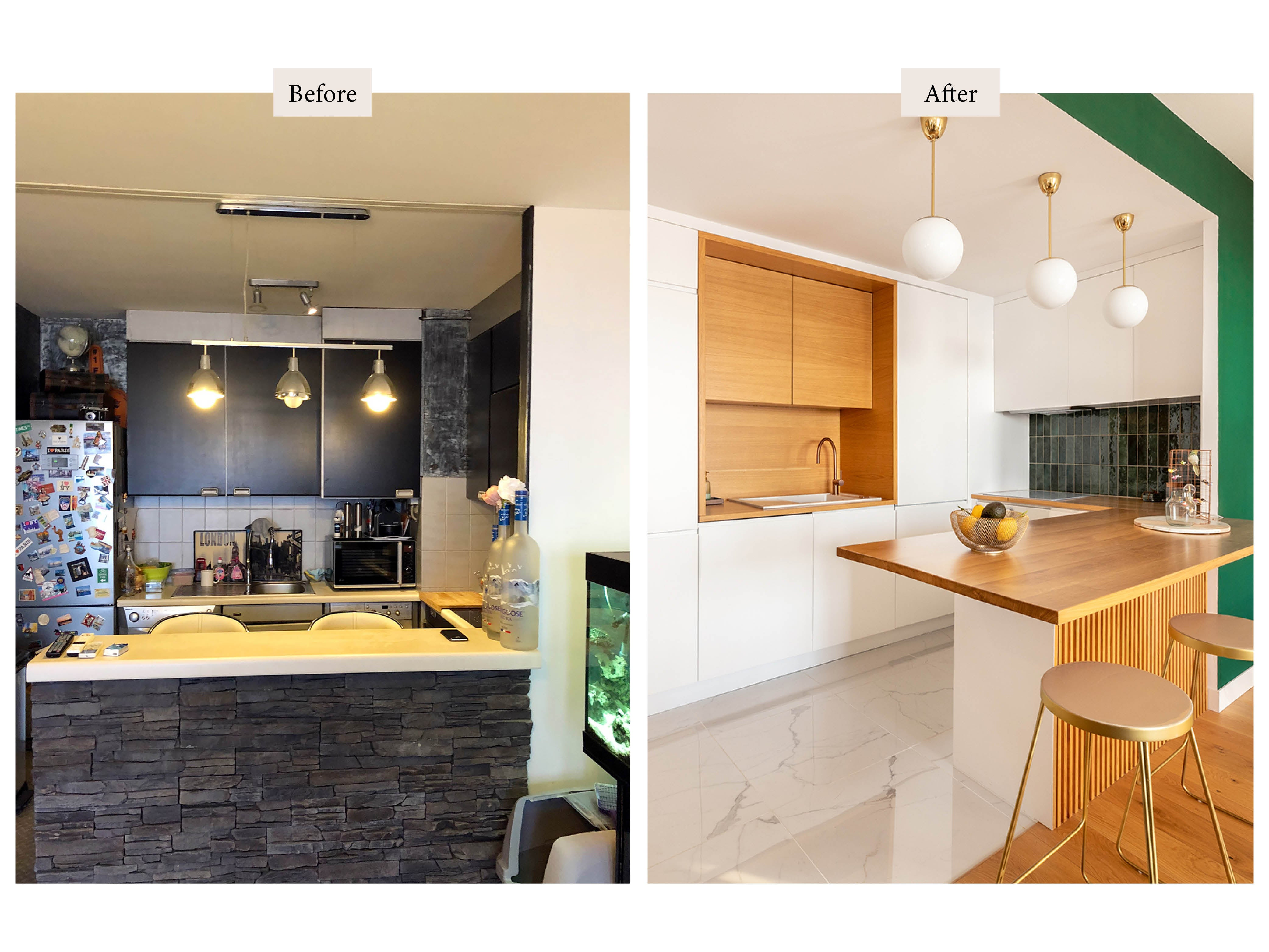 before and after kitchen transformation