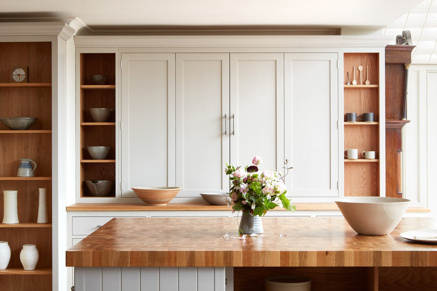 wood and cream kitchen cabinets