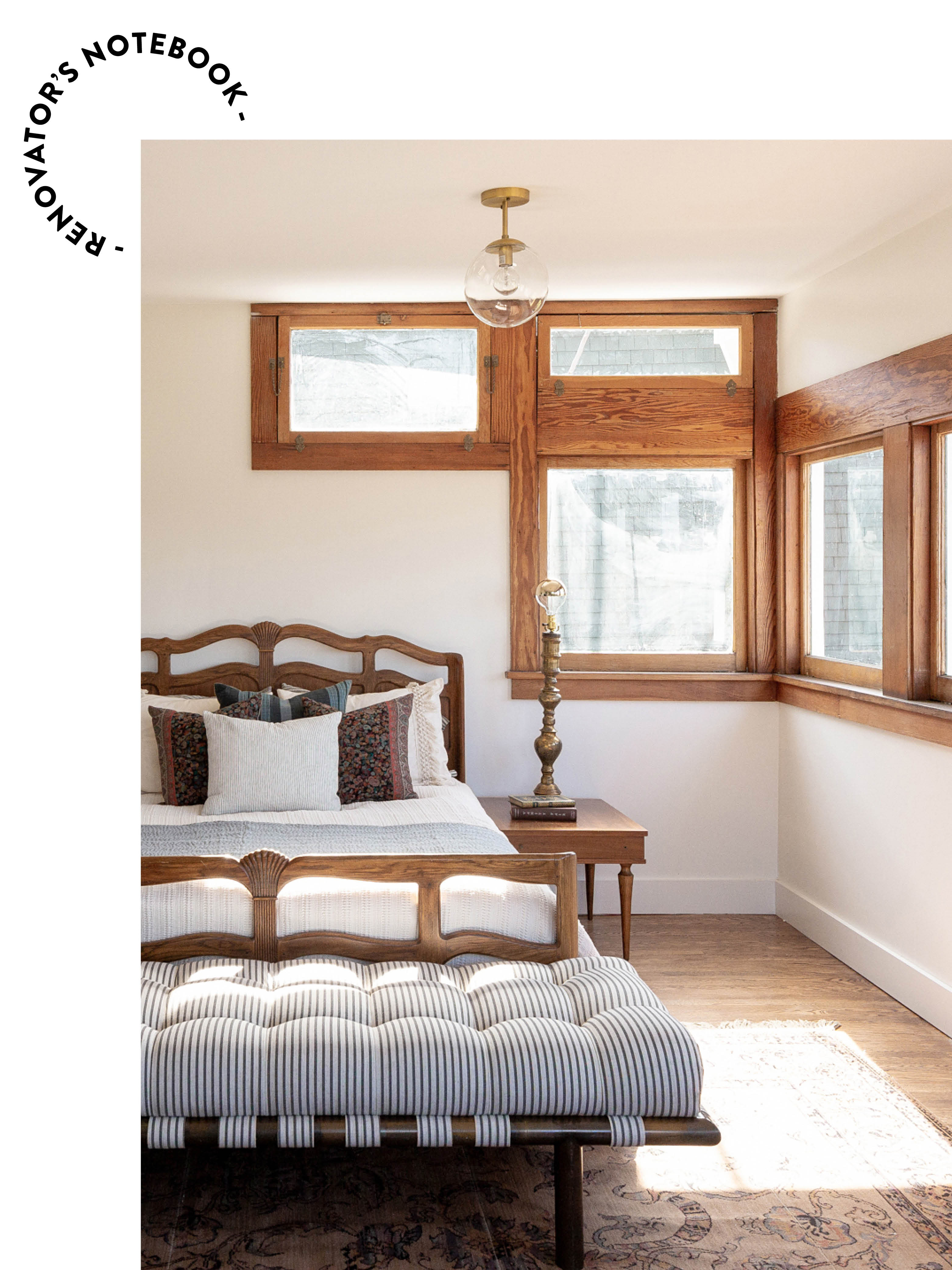 bright bedroom photo on a wood backdrop