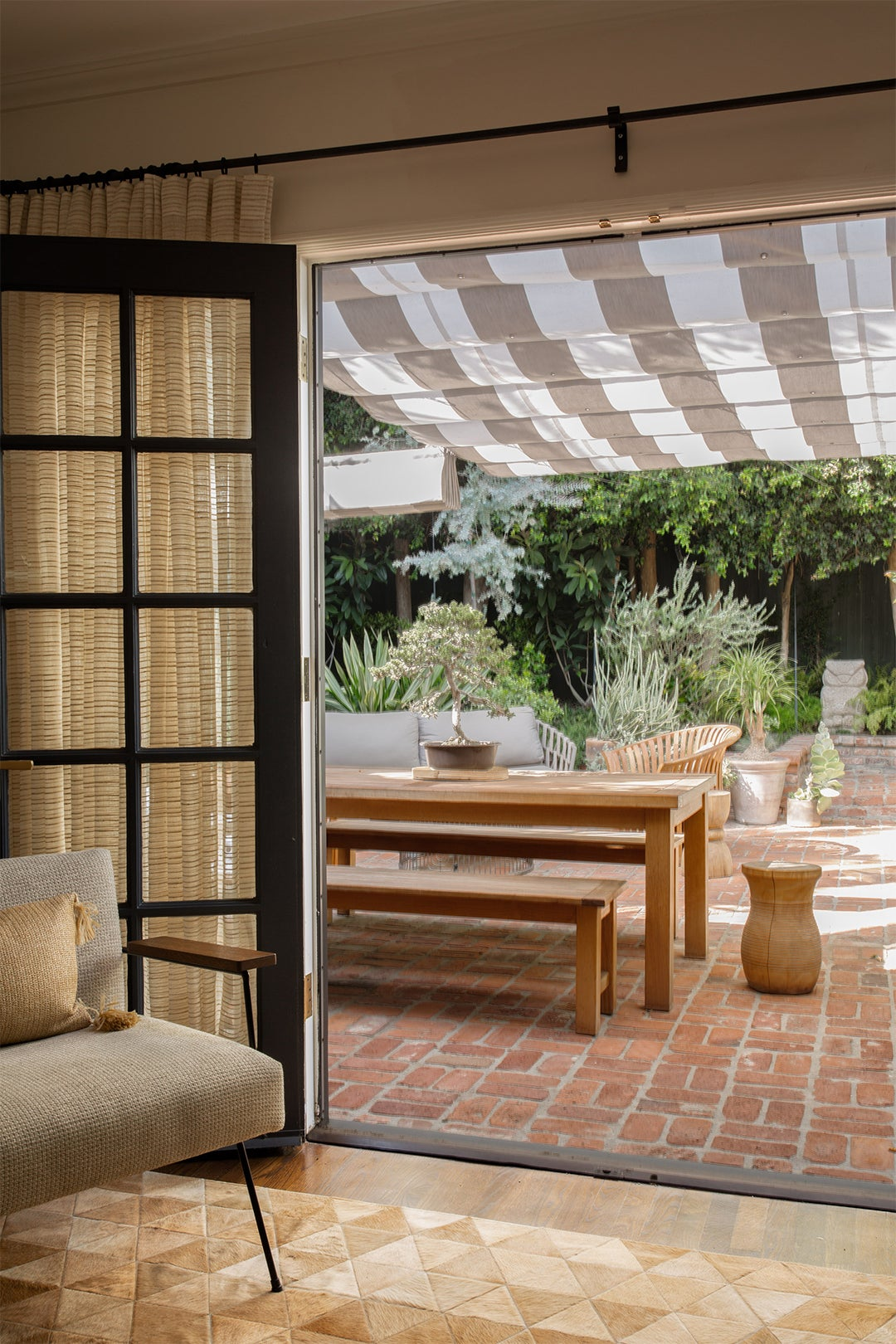 outdoor patio with dining space