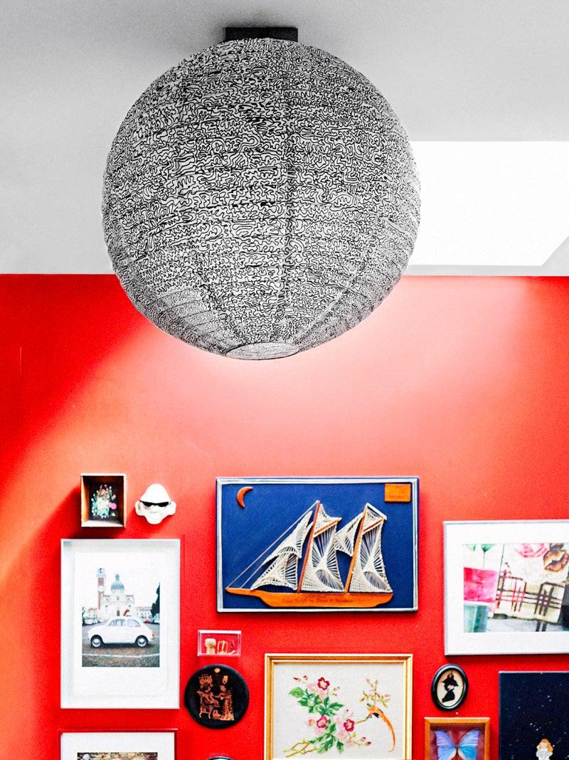 IKEA Pendant light with illustration