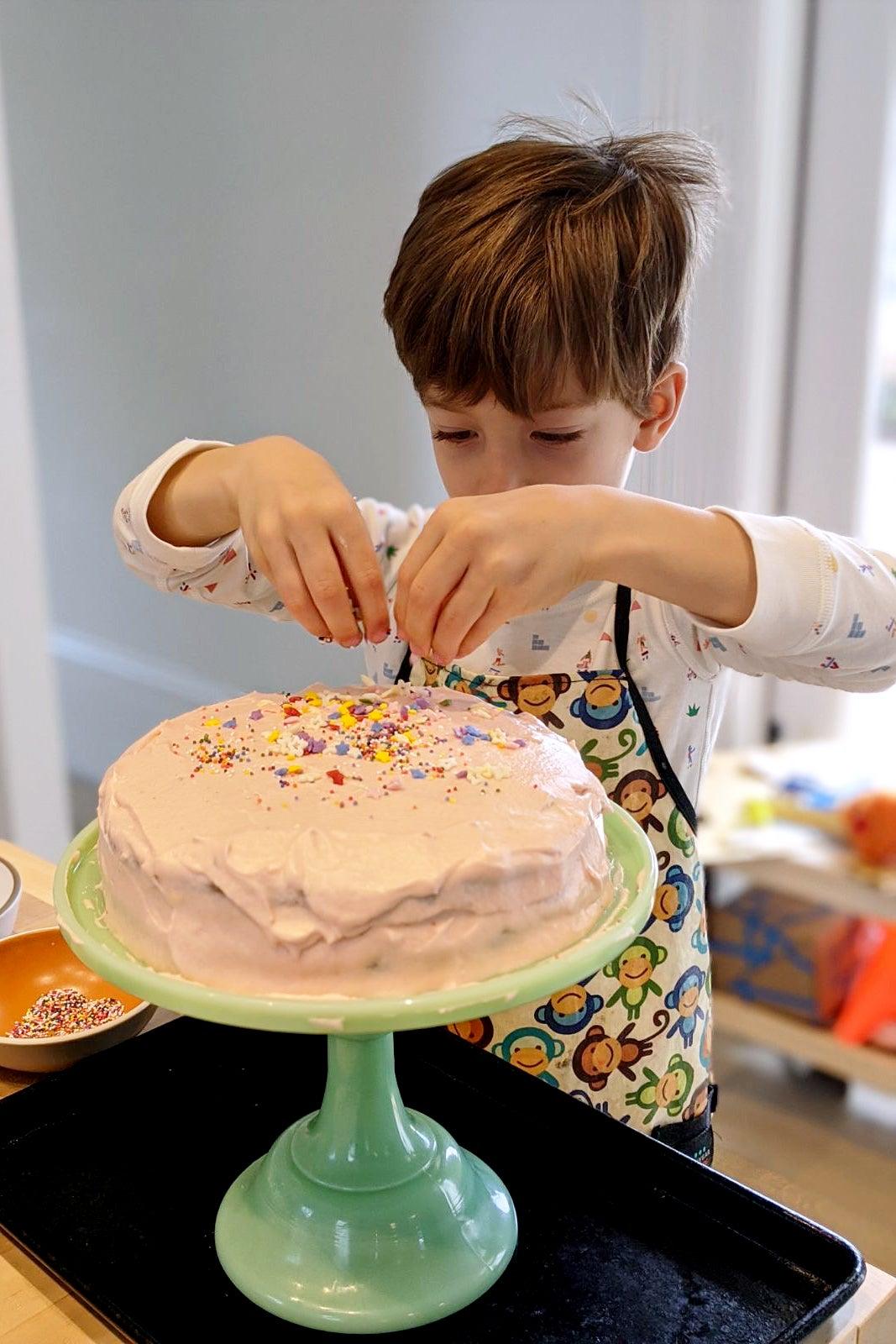 boycotting sprinkles on a cake