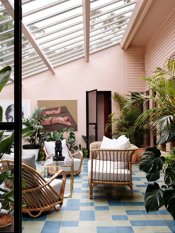 indoor patio with plants