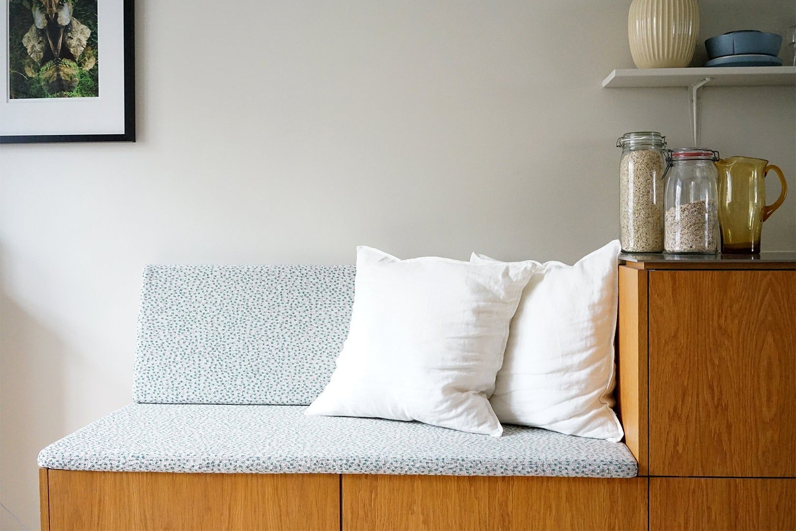 cushion on bench