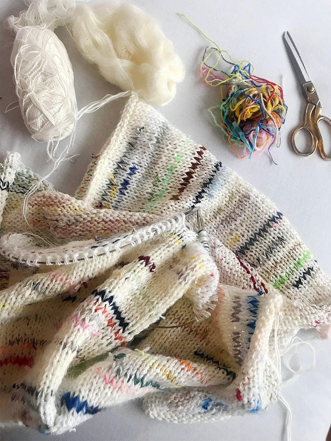 Sweater in process