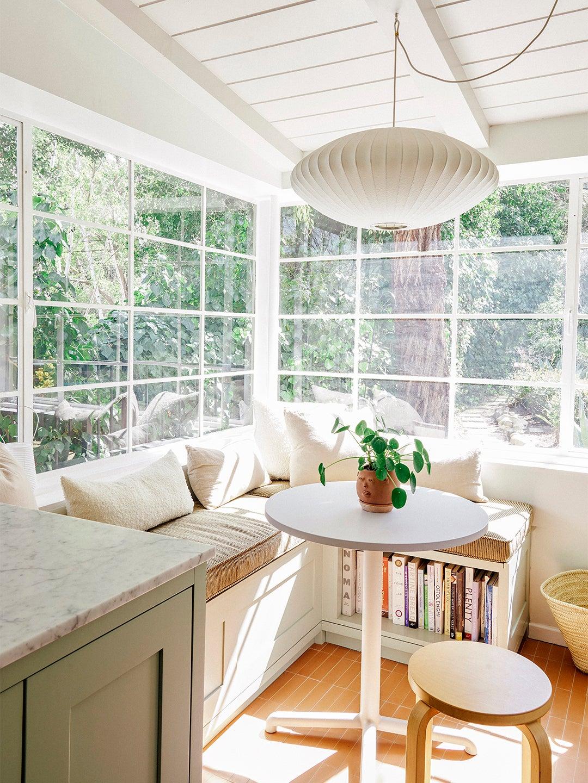 bright breakfast nook with surround windows