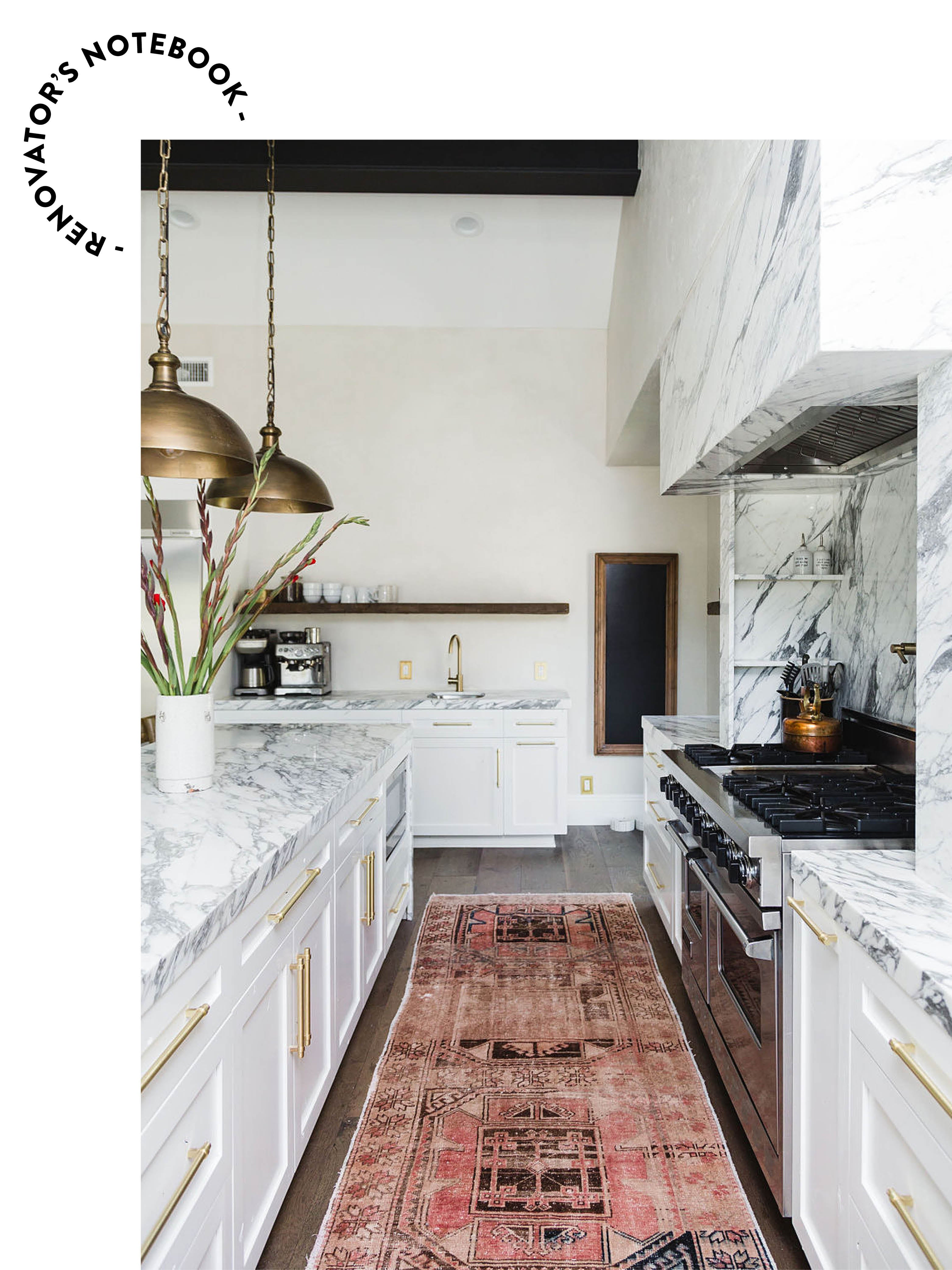 marble kitchen with a marble backgorund
