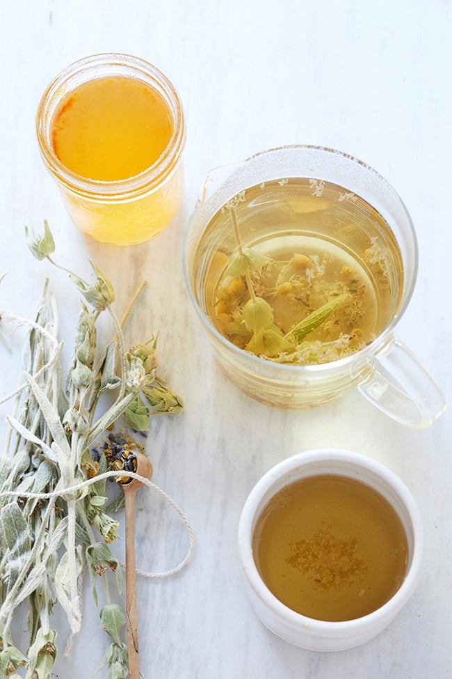 ginger tea in a glass