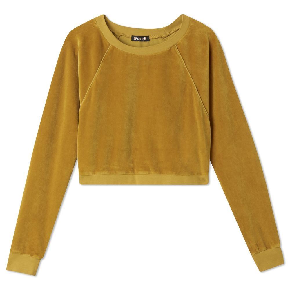 Cropped Yellow Crew Sweatshirt