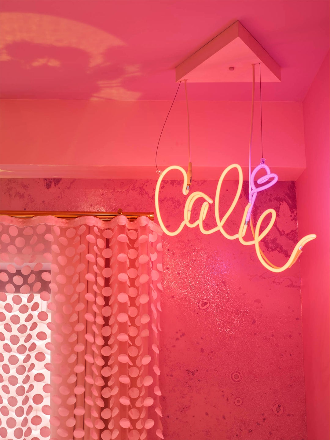 Nursery with neon sign