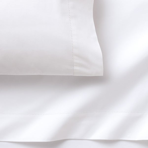 Solid Hemstitched Supima Percale Bedding