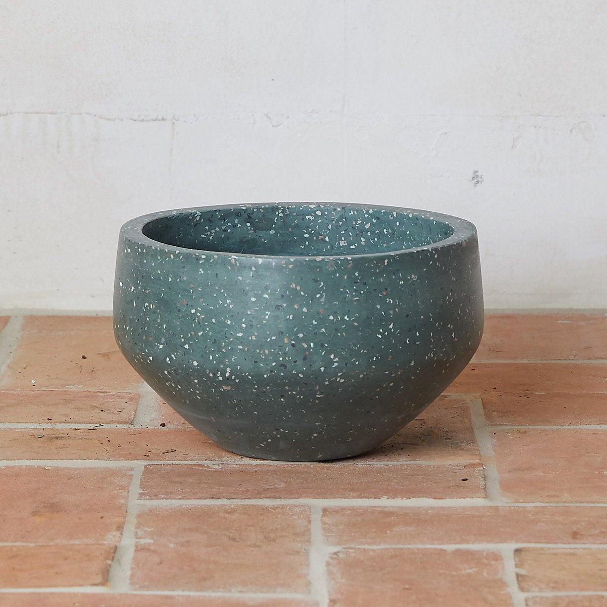 Terrazzo Fiber Bowl Planter