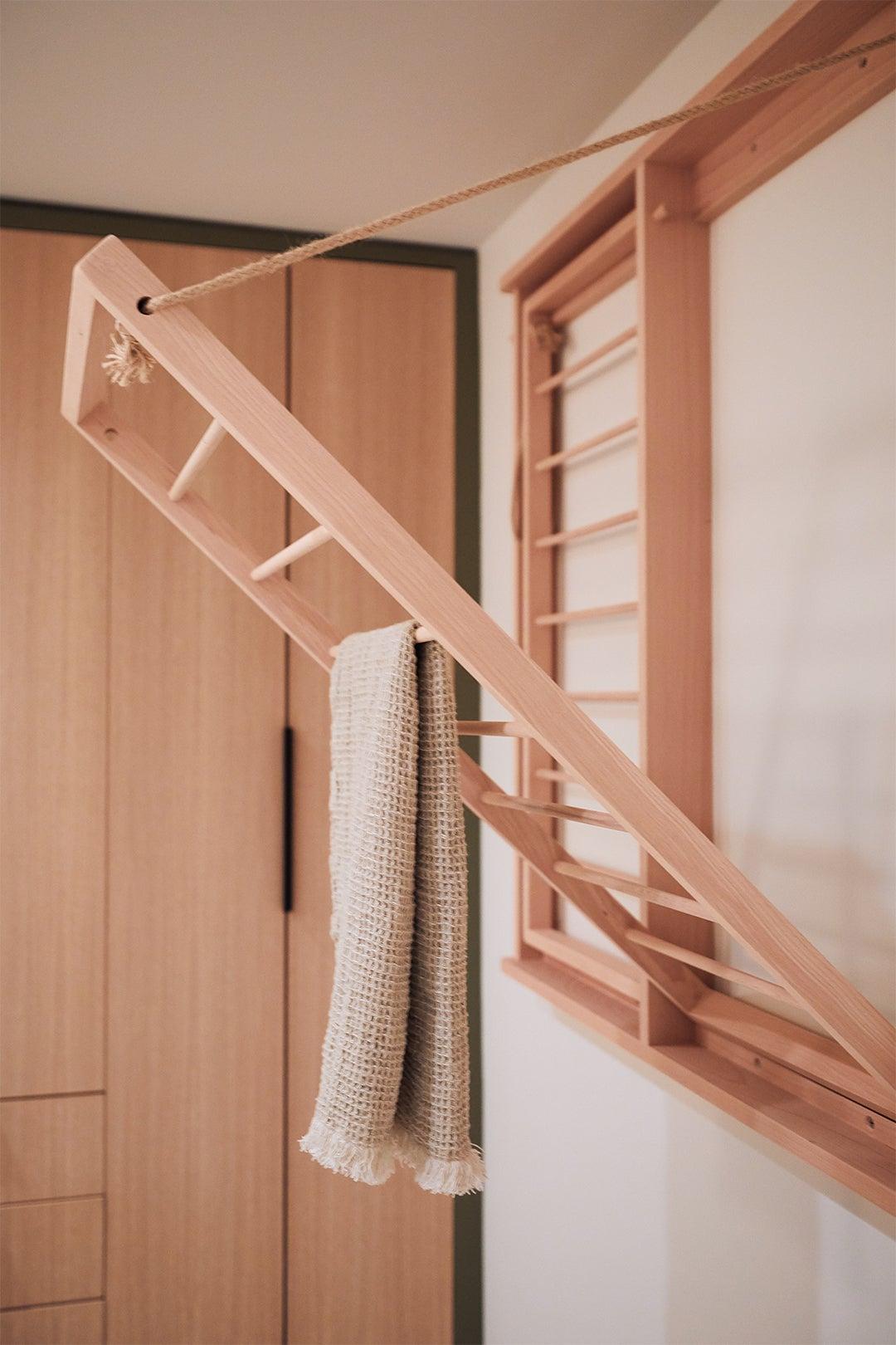 Built-in drying rack