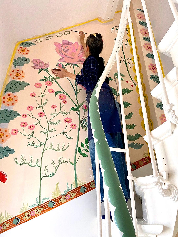 Nathalie painting