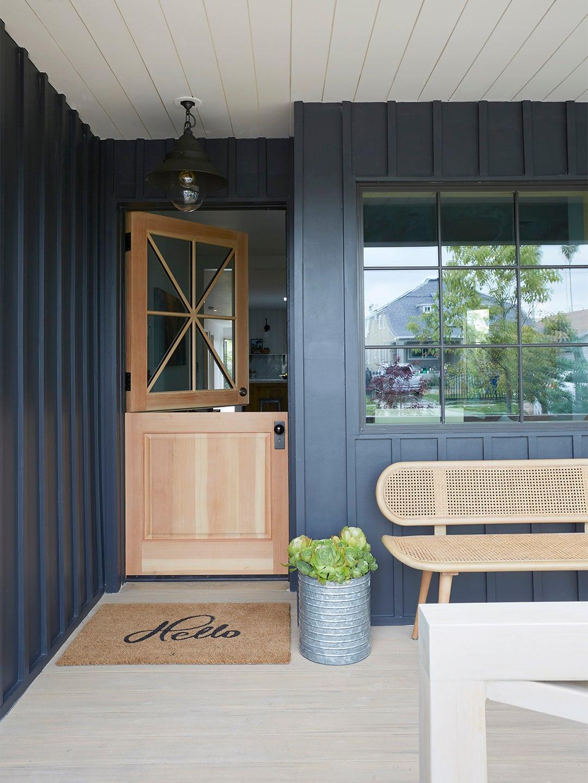 Front porch with Dutch door