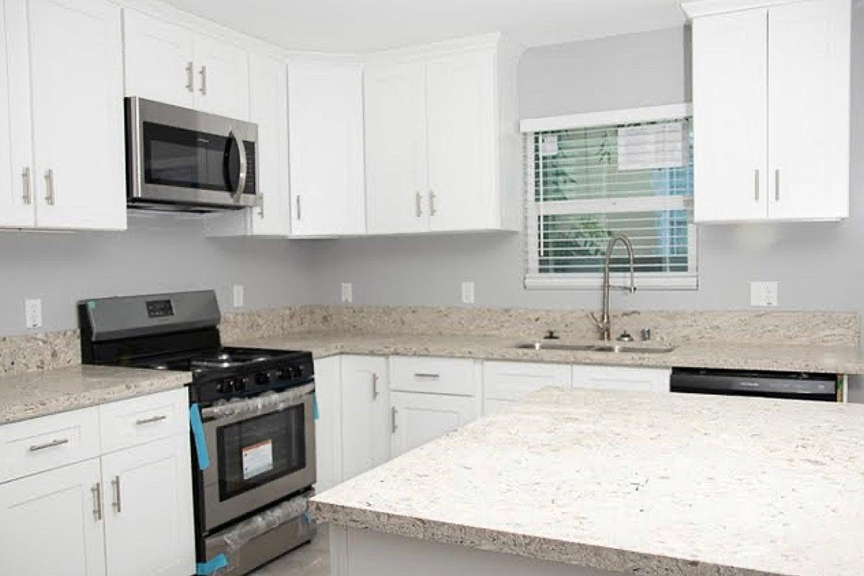 Builder-grade kitchen