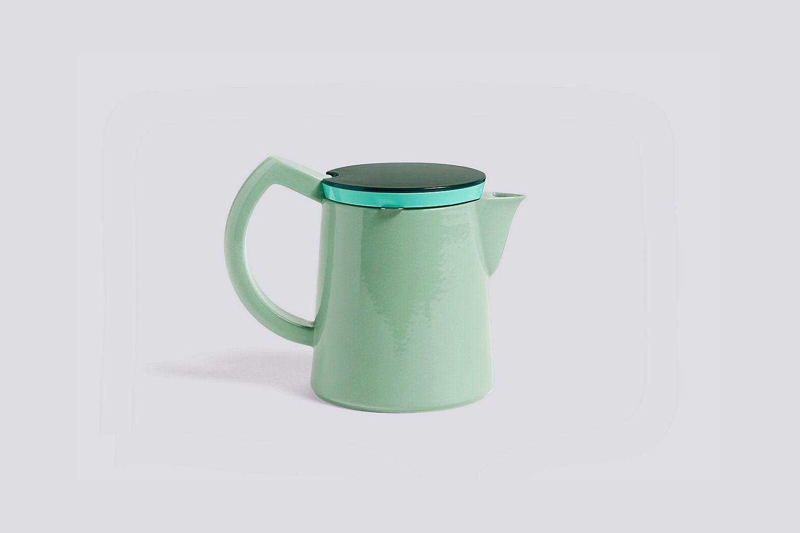 Mint green coffee pot