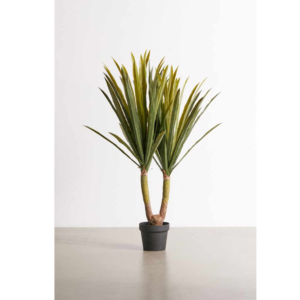 Potted Tropical Yucca Faux Plant
