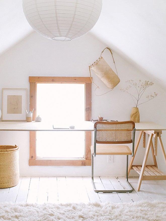 wooden desk cesca chair