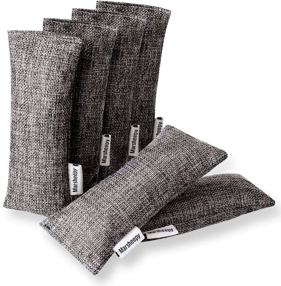 6 Pack Natural Bamboo Charcoal Purifying Bag