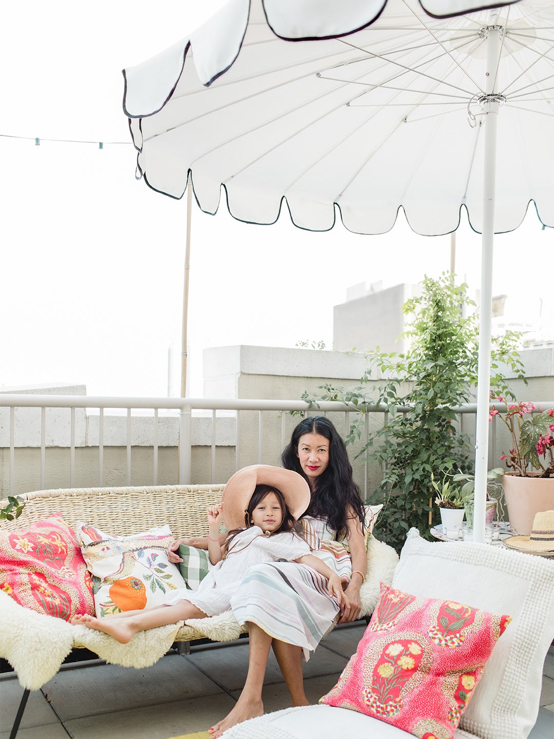 My Terrace Is a Wind Tunnel—But This Pagoda-Style Umbrella Has Withstood It All