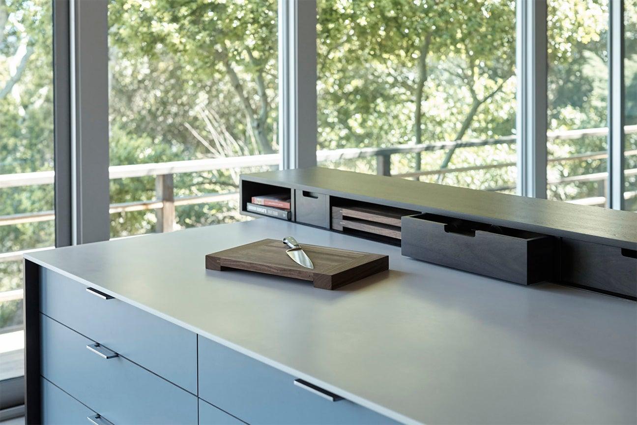 cutting baord on counter