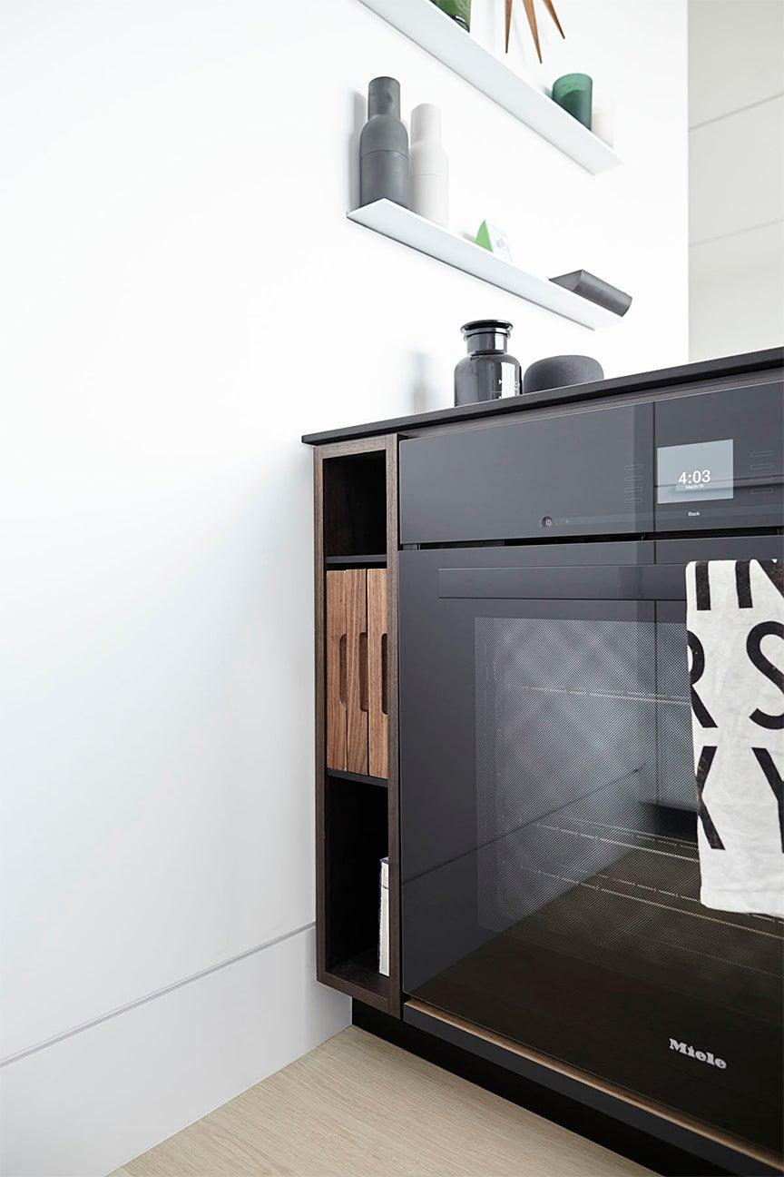 open nook next to oven