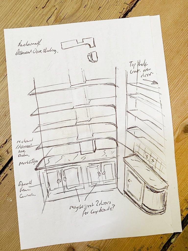 blueprint of pantry