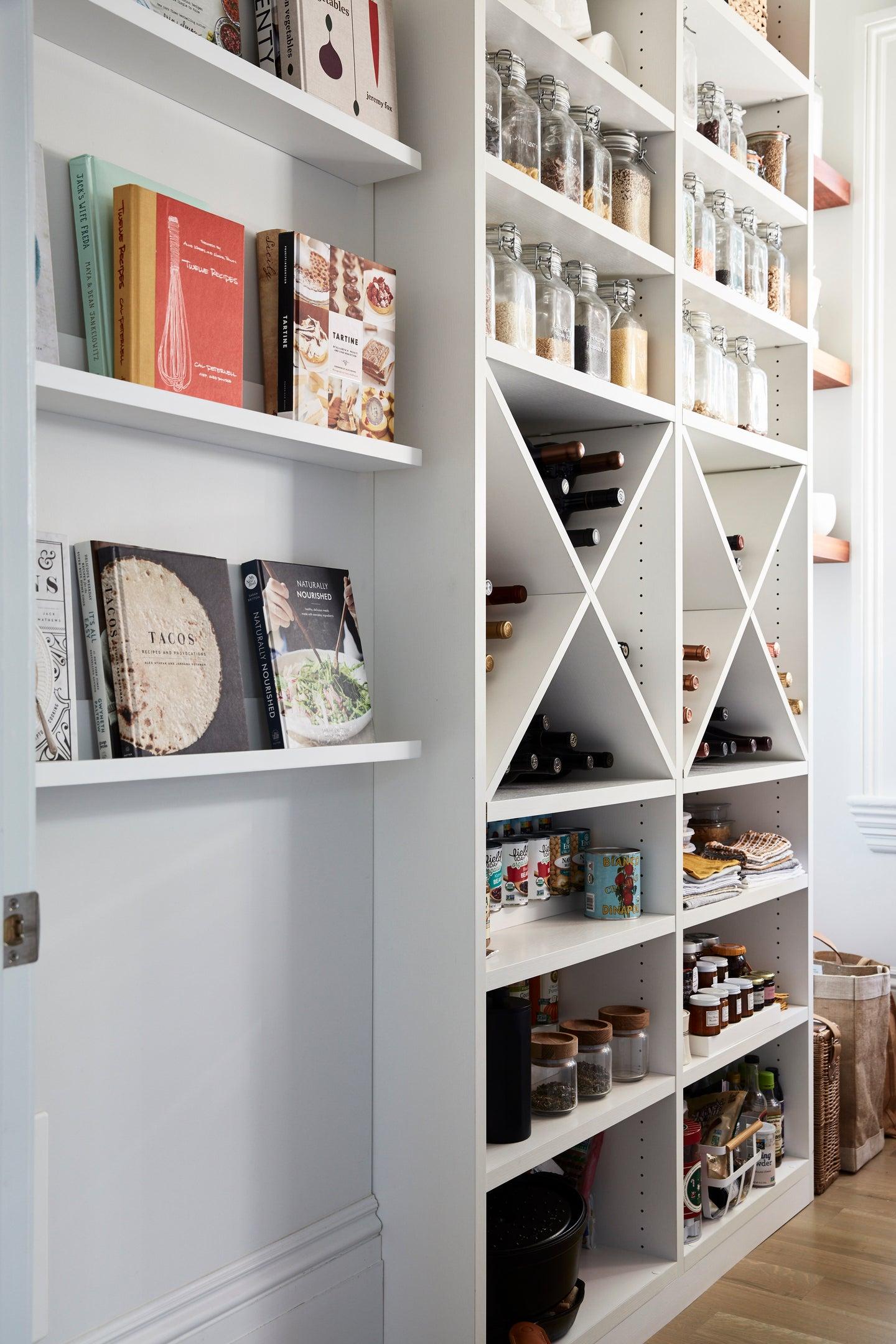 Kitchen pantry with wine storage