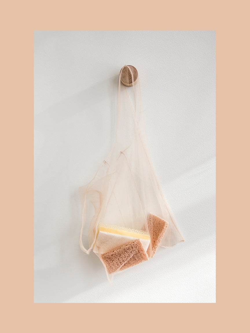 Mesh bag with sponges